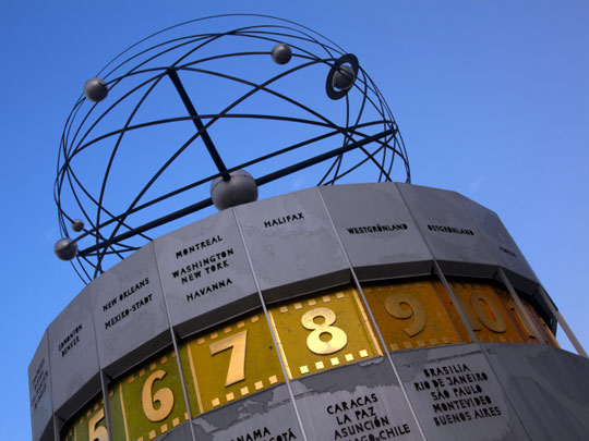 atomic clock at Alexanderplatz, Berlin, Germany